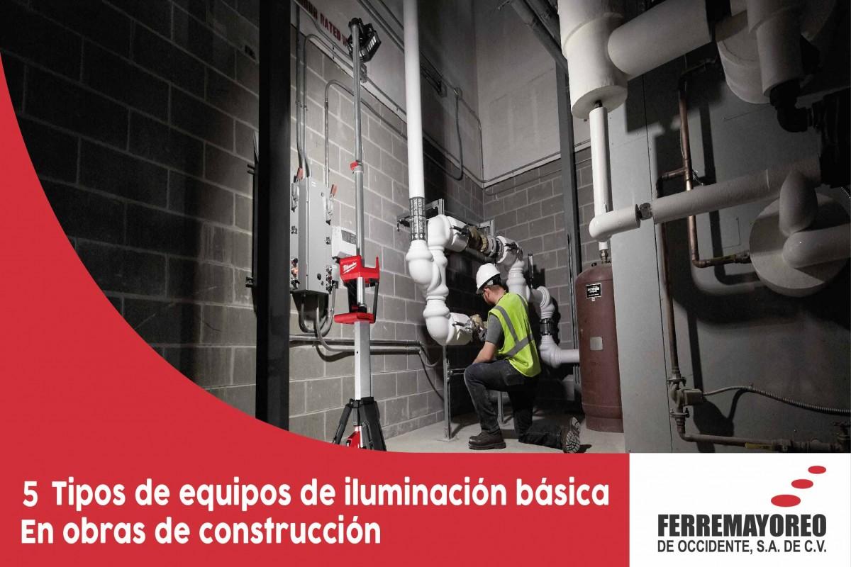 5 tipos de equipos de iluminación básica en obras de construcción